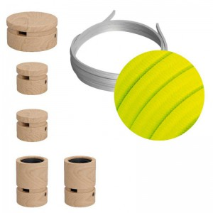 Filé System Wiggle Kit - with 3m string light cable and 5 indoor wooden components