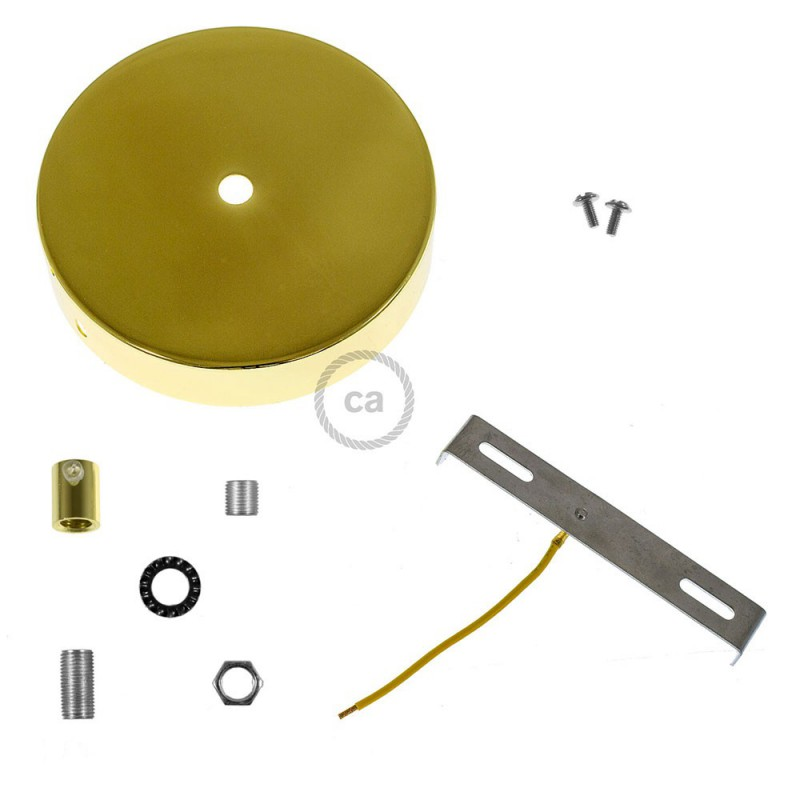 Cylindrical metal ceiling rose kit