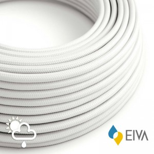 Outdoor round electric cable covered in White Rayon SM01 -suitable for IP65 EIVA system