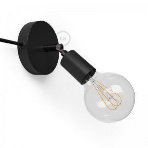 Spostaluce Metal 90°, the adjustable light source with fabric cable and side holes