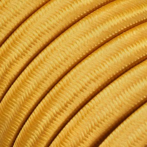 Electric cable for String Lights, covered by Rayon fabric Gold CM05