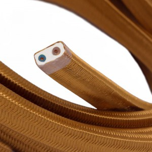 Electric cable for String Lights, covered by Rayon fabric Whiskey CM22