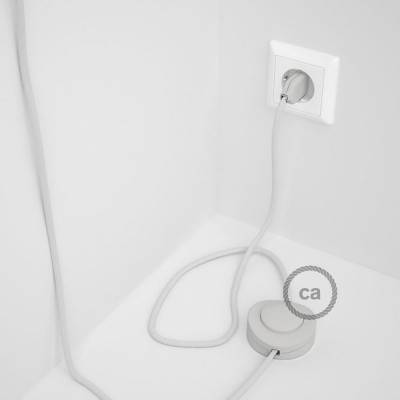 Wiring Pedestal, RC01 White Cotton 3 m. Choose the colour of the switch and plug.