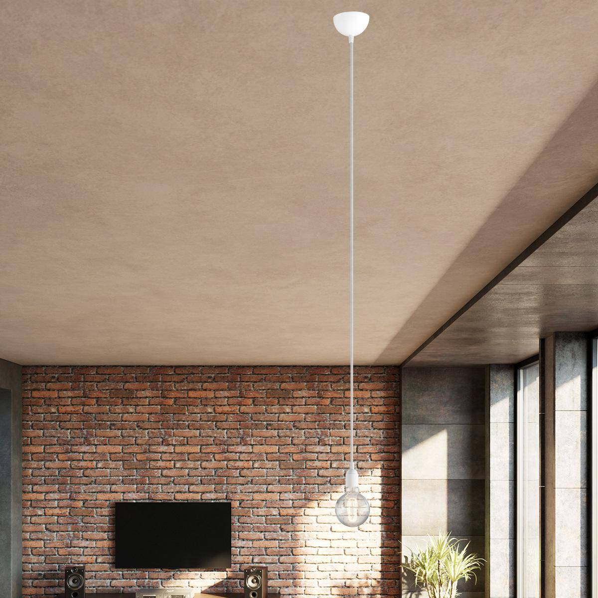 Single Pendant Lighting with naked bulb